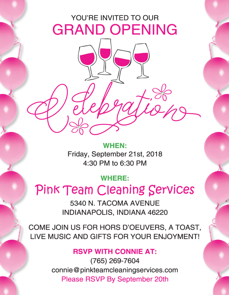 Pink Team Cleaning Services Grand Opening  41272404d
